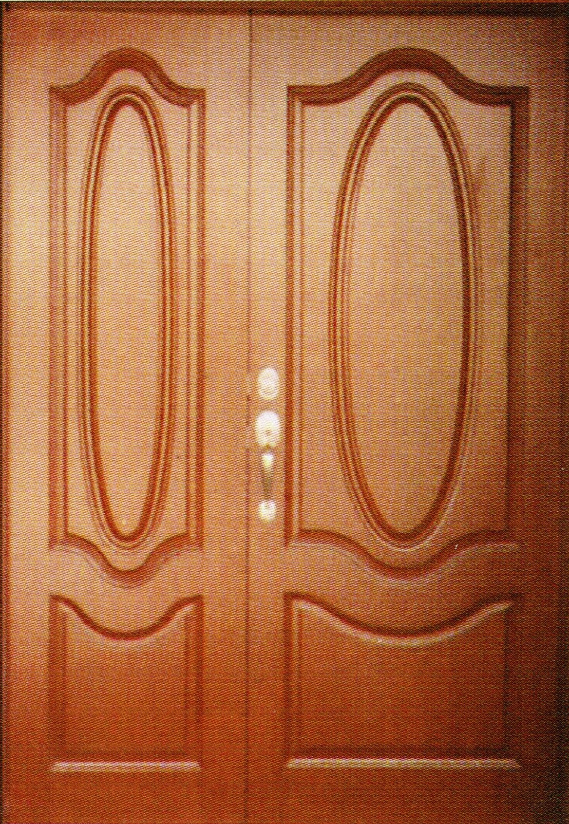 Solid timber double leaf door